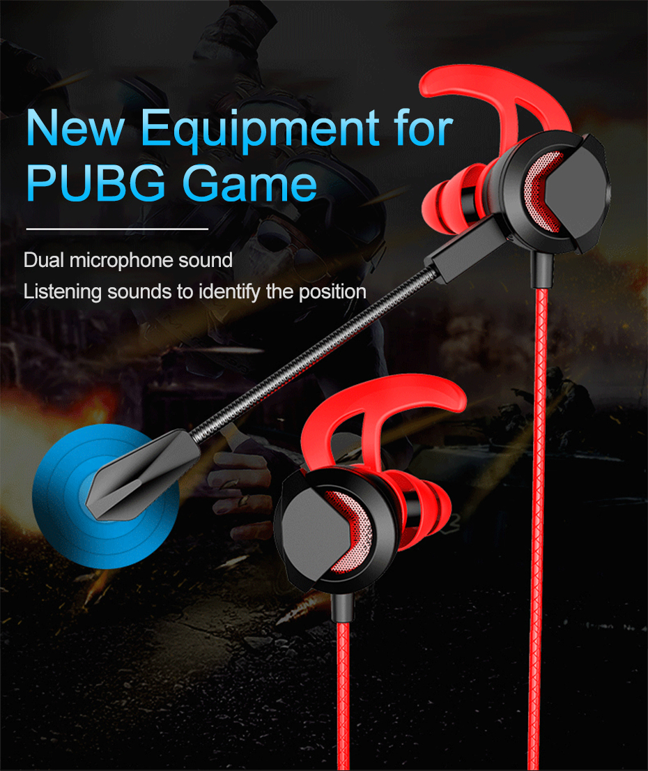 Wired Earphone With Micphone For Computer Mobile Phone Games Wired Headset Hifi Earphone In-ear Earphone Wired Gaming Headset   (1)