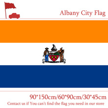 Free shipping Albany City Flag Of New York State 90*150cm 60*90cm Flag 3x5ft Custom Polyester 30*45cm Car Flag For Campaign Vote free shipping washington d c flag custom 3x5ft high quality campaign vote 30 45cm car flag 90 150cm 60 90cm flag