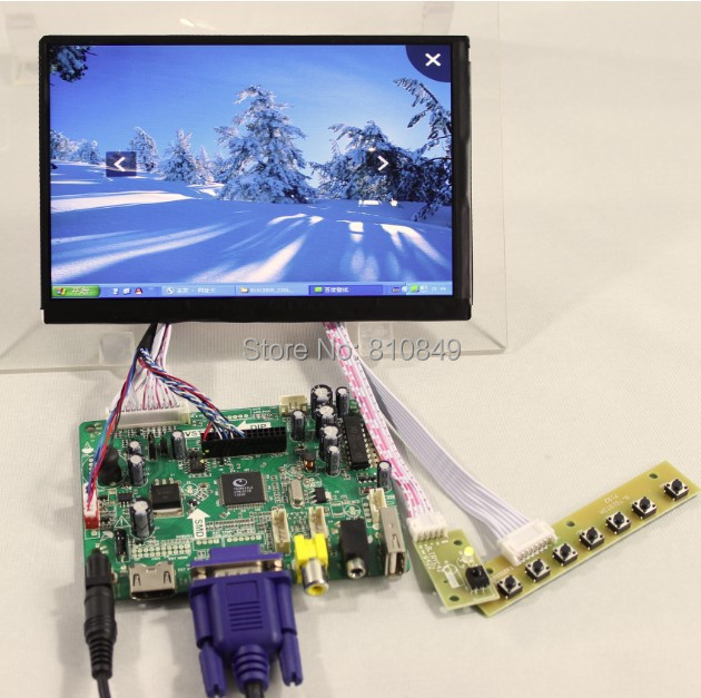 HDMI+VGA+AV+Audio+USB FPV Controller board VST29.01B+7inch N070ICG-LD1/LD4 1280*800 IPS lcd panel for raspberry hdmi vga 2av lcd controller board with 7inch n070icg ld1 39pin reversal1280x800 ips touch lcd