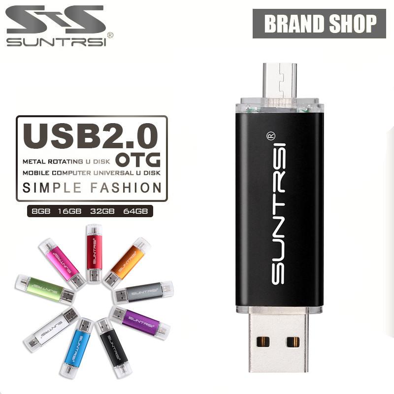 Prix pour Suntrsi usb flash drive 10 pcs/lot otg smart téléphone mobile pen drive clé usb clé usb de stockage externe usb flash personnalisé logo