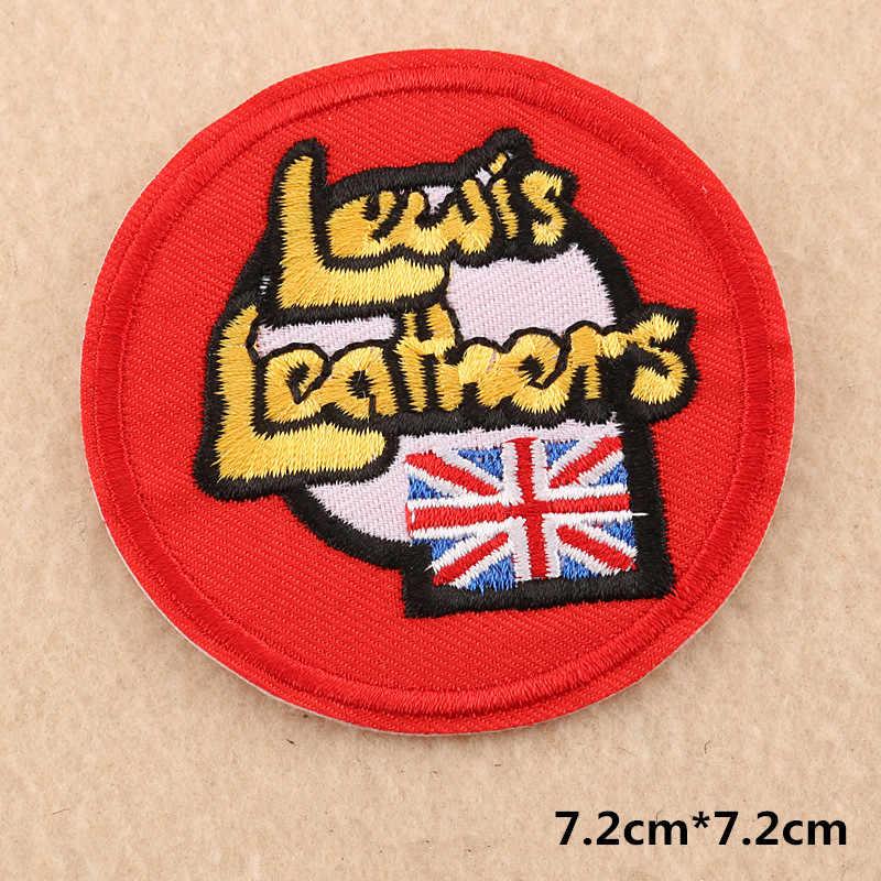 Colorido Círculo Bordado Patches de Crachá de Ferro Em Roupas T-shirt Rodada Emblema Patch Para Acessórios de Vestuário Apliques Adesivos