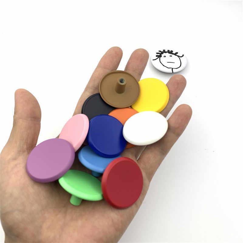 LCH 37 MM En Kaliteli Gökkuşağı Renkli Çinko Alaşımlı kabin tutamakları Çekmece kolu Çocuklar/Çocuk Şeker Renkli Dolap Kolları