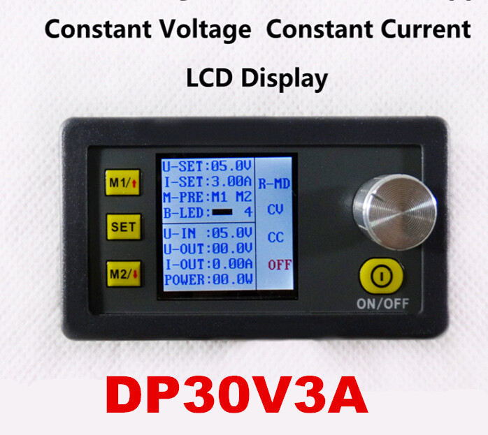 LCD Display module buck Voltage converter voltmeter with fan DP30V3A Step-down Programmable Power Supply цена