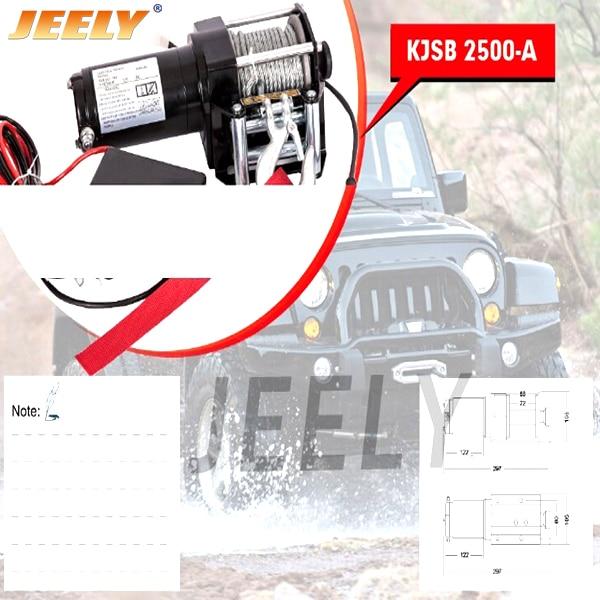 LIVRAISON GRATUITE DC 12 V 2500LB Électrique ATV/UTV/4X4/4WD Treuil, treuil De Voiture