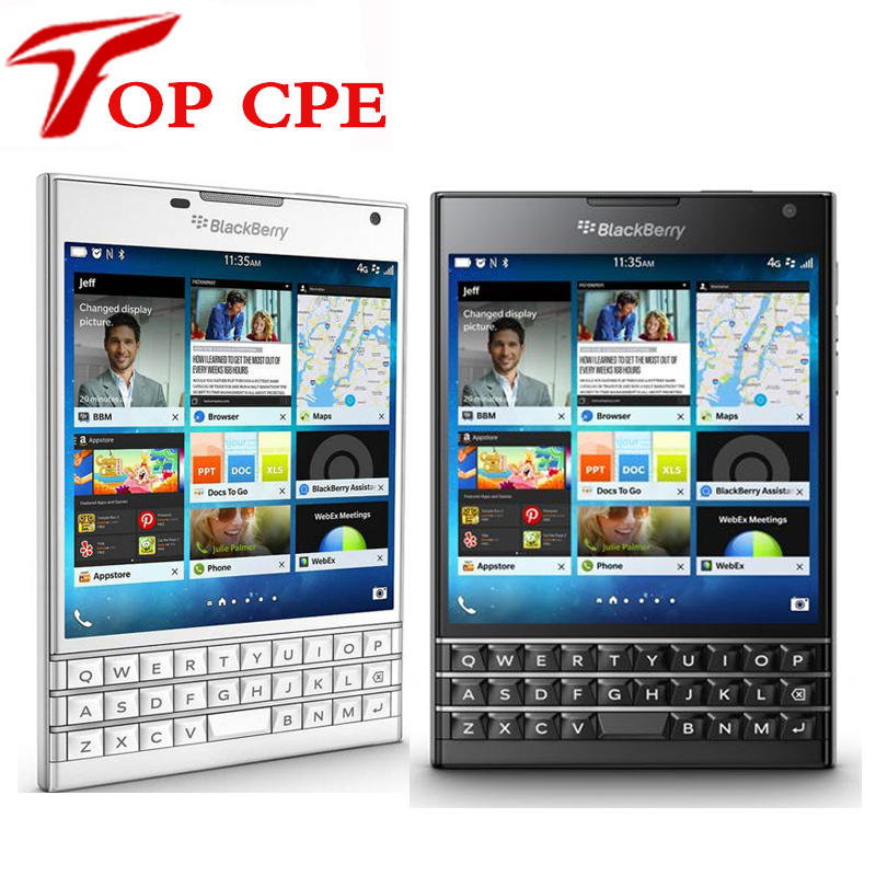 original unlocked blackberry passport q30 lte cell phone blackberry os 10 3 quad core 3gb ram. Black Bedroom Furniture Sets. Home Design Ideas