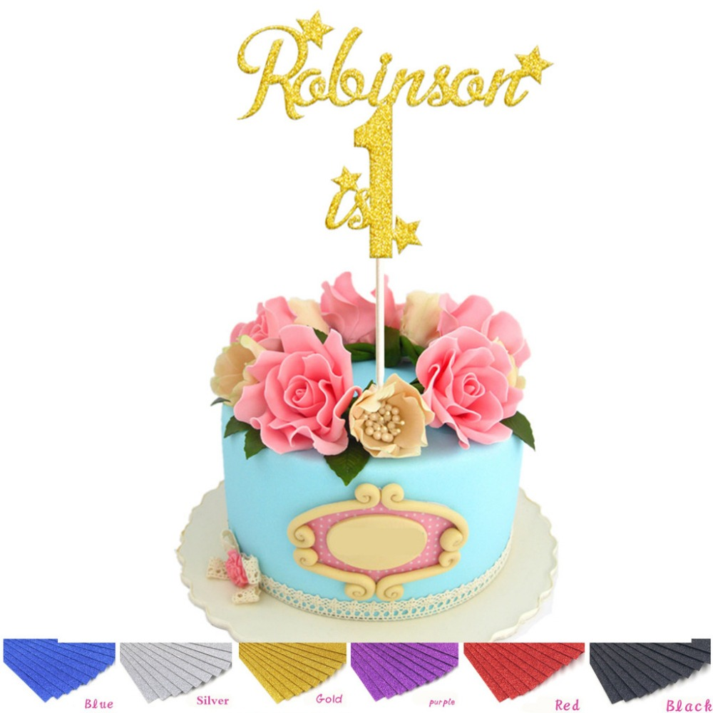 PERSONALISED Birthday Cake Topper Custom ANY NAME Happy Decorations