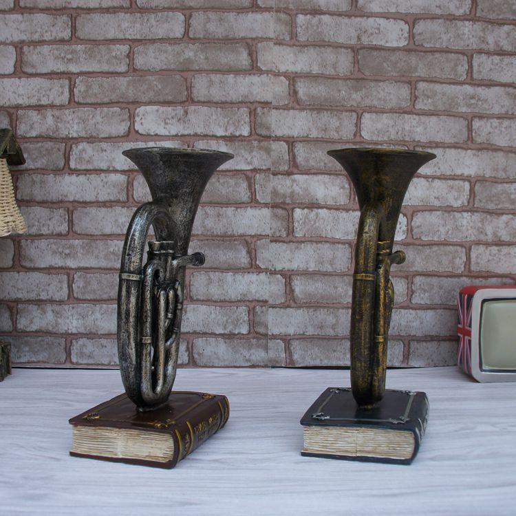 Modelo de saxofón musical Vintage artesanía de resina de escritorio - Decoración del hogar - foto 5