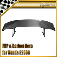 Car Accessories For Honda S2000 Js Racing Style Carbon Fiber GT Spoiler (295mm Leg Height) Glossy Fibre Rear Trunk Wing Body Kit