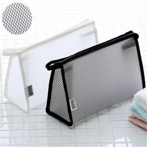 Clear Waterproof Case Transparent Plastic PVC Travel Make Up Toiletry Zipper Bag
