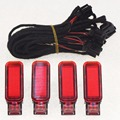 Original 4 pcs OEM Red Door Panel Warning Light w. Cable For Audi A3 A4 A5 A6 A7 A8 Q3 Q5 TT 8KD 947 411 6Y0 947 411 4FD 947411