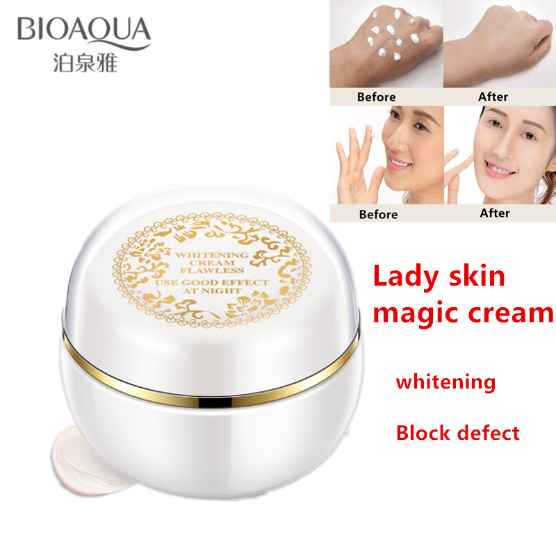 Bioaqua Lady skin magic cream Glow freckles whitening cream freckle tan plaques from Pregnancy remove Facial skin care brighter цена