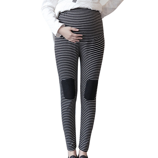 1594cf05e7 Popular Striped Maternity Pants Autumn Winter Pregnancy Pants Comfy  Maternity Trousers for Pregnant Women Maternity Clothes