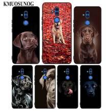 For Huawei Honor Mate 7C 7A 8 8X 9 9N 10 20 Nova 3 3e 3i  Pro Lite Black Silicon Phone Case Labrador Retriever Style