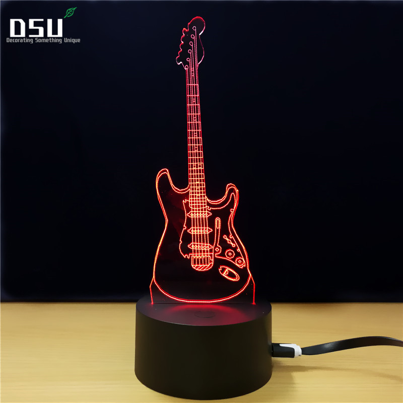 NEW ARRIVAL 3D Music Cool Guitar Bass LED LAMP Night Light for Musicians Student Birthday Christmas Present Home Decoration