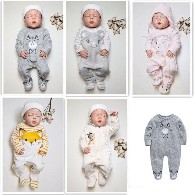 Pasgeboren Baby Rompertjes Winter Baby Jongens Meisjes Kleding Plus Fluwelen Warme Zuigeling Algehele Peuter Jumpsuit Pasgeboren Kostuum Een Stuk