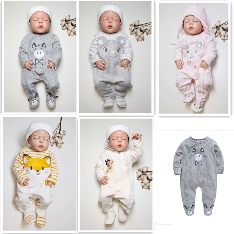 3e01e0279c231 Newborn Baby Rompers Winter Baby Boys Girls Clothes Plus Velvet Warm Infant  Overall Toddler Jumpsuit New Born Costume One Piece