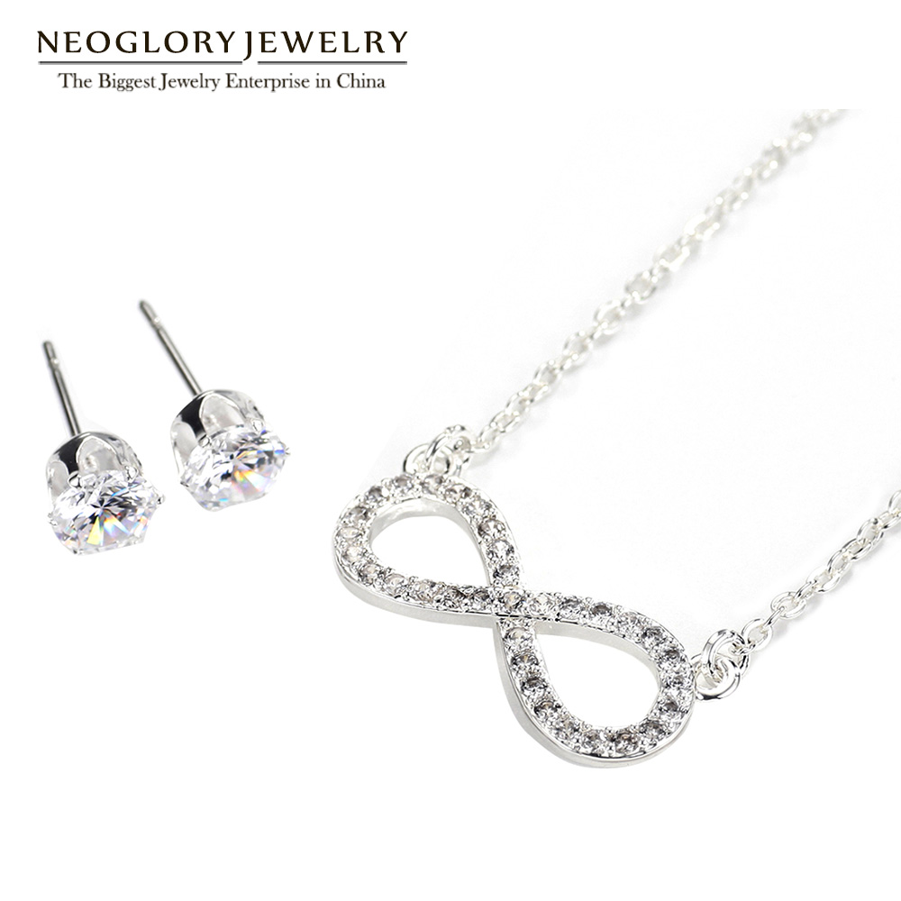 Neoglory Jewelry-Sets Necklaces Stud-Earrings Charm Birthday-Gifts Fashion Women And