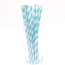 25pcs/lot Blue Theme Disposable Tableware Paper Party drink straws wedding birthday party decorations kids party supplies