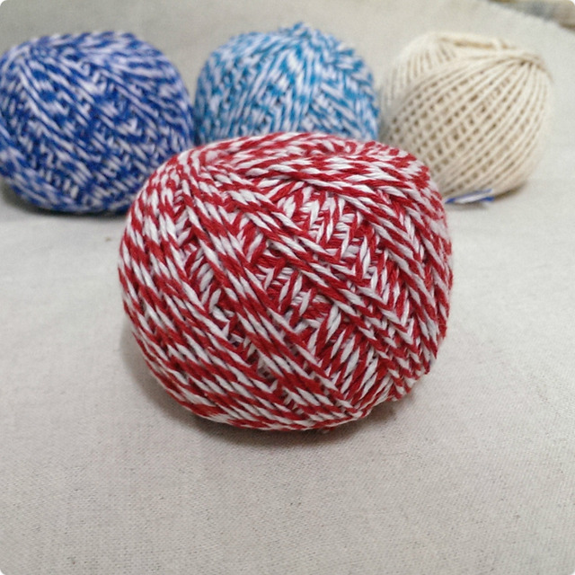 NEW 1MM~1.5MM Cotton Bakers Twine Mix (100yard/spool) Baker's Twine Gift Packing RED Twine for Crafting MS15122502