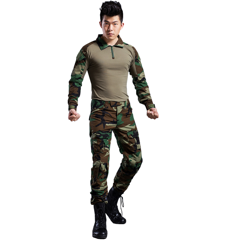 woodland clothing airsoft camouflage suit military unfirom paintball equipment military clothing combat shirt uniform