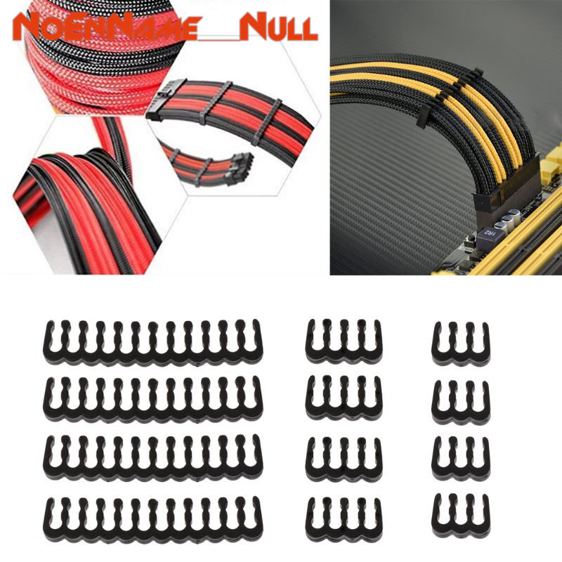 Image 2 - Networking tools 12Pcs PP Cable Comb /Clamp /Clip /Dresser For 2.5 3.0 mm Cables Black 6/8/24 Pin dropshipping-in Networking Tools from Computer & Office
