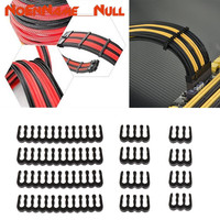 2 3 3 Networking tools 12Pcs PP Cable Comb /Clamp /Clip /Dresser For 2.5-3.0 mm Cables Black 6/8/24 Pin dropshipping (2)