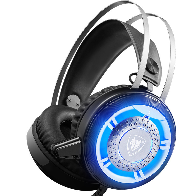 New Cool Wired Gaming Headset Deep Bass Game Earphone Computer Headphones with Microphone LED Light Headphones for Computer PC