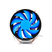 4Pin 120mm CPU Cooler Fan Radiator 2 Heatpipes Blue LED CPU Cooling Fan Aluminum Heatsink For