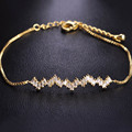 Charm CZ Rhinestone Copper Cool Bracelet For Women Girls Gold Plated Bracciali Donna Box Chain Minimalist Jewelry Mujer Bijoux