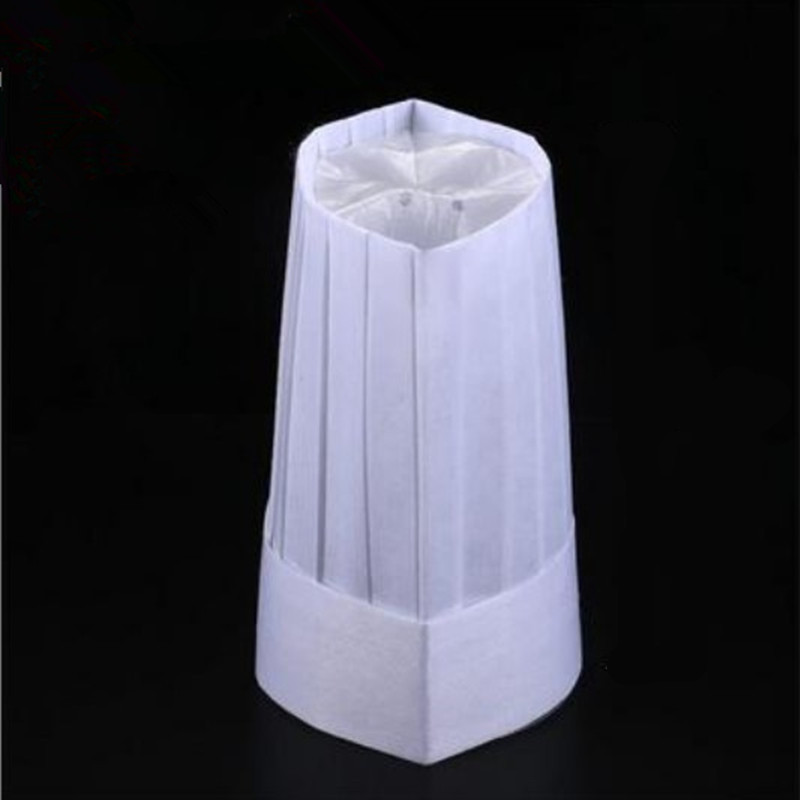 Thickened Nonwovens Chef Top Hat China Restaurants Chef Cook Hat Disposable Chef Hat One-time Chef Accessories