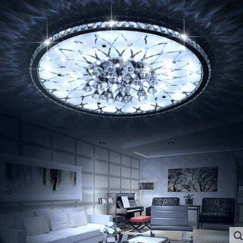 Us 222 0 60 Off Living Room Lamp Simple Modern Atmosphere Household Led Light Crystal Bedroom Headlights Rotunda Ceiling Lamps In
