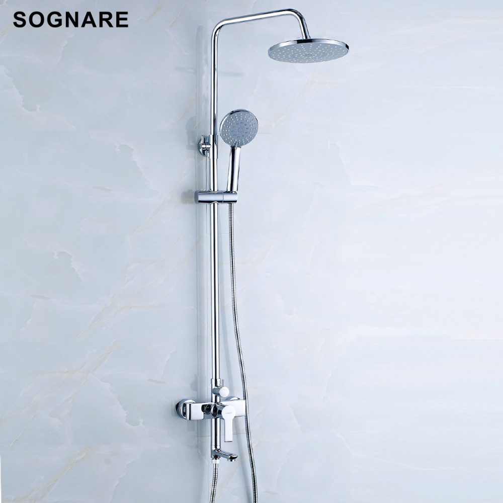 sognare bathroom fixtures rain shower faucet set bathtub faucet waterfall rain shower head waterfall big rain