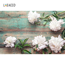 Laeacco Flower Floral Wooden Board Wedding Party Bouquet Romantic Photography Backgrounds Photographic Backdrop For Photo Studio