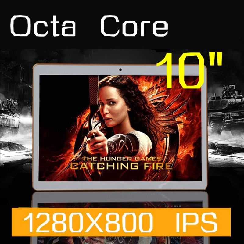 Tablet PC 10 polegada Octa Noyaux 1280X800 32 GB DDR3 4 GB RAM 5.0MP Caméra 3G WCDMA + GSM SIM Carte android5.1 tablet PCs