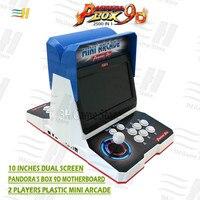 New Pandora Box 9d 2500 in 1 plastic mini arcade 10 inches dual screen 2 Player bartop 3d tekken 1 2 3 Mortal Kombat 1 2 3 4