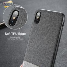 KISSCASE Case For iPhone XR XS Max Cover Soft Edge Phone Case For iPhone X XS 6 6s 7 8 Plus Retro Fabric PU Leather Fundas Capas цена