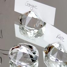 Свадебный Алмазный держатель для карт Кристалл место держатель для карт для свадебного стола украшения 50 шт./лот