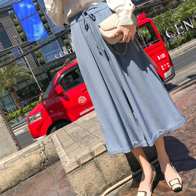 Fashion New Dress Wide Lege Casual Summer Straight Pants Women Loose Trousers Female