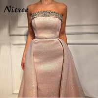 African Pink Mermaid Evening Dresses Dubai Turkish Arabic Aibye Prom Gowns Formal Party Dress 2018 Abendkleider Robe de soiree