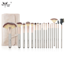 Anmor Natural 18PCS Makeup Brush Set Professional Make Up Brushes High Quality Synthetic Brushes For Makeup with Bag