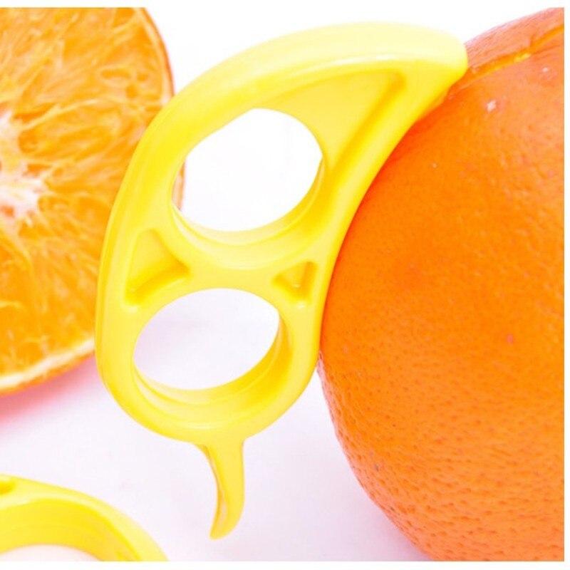 1Pcs Creative Orange Peelers Zesters Lemon Slicer Fruit Stripper Easy Opener Citrus Knife Kitchen Tools Gadgets Random Color in Peelers Zesters from Home Garden