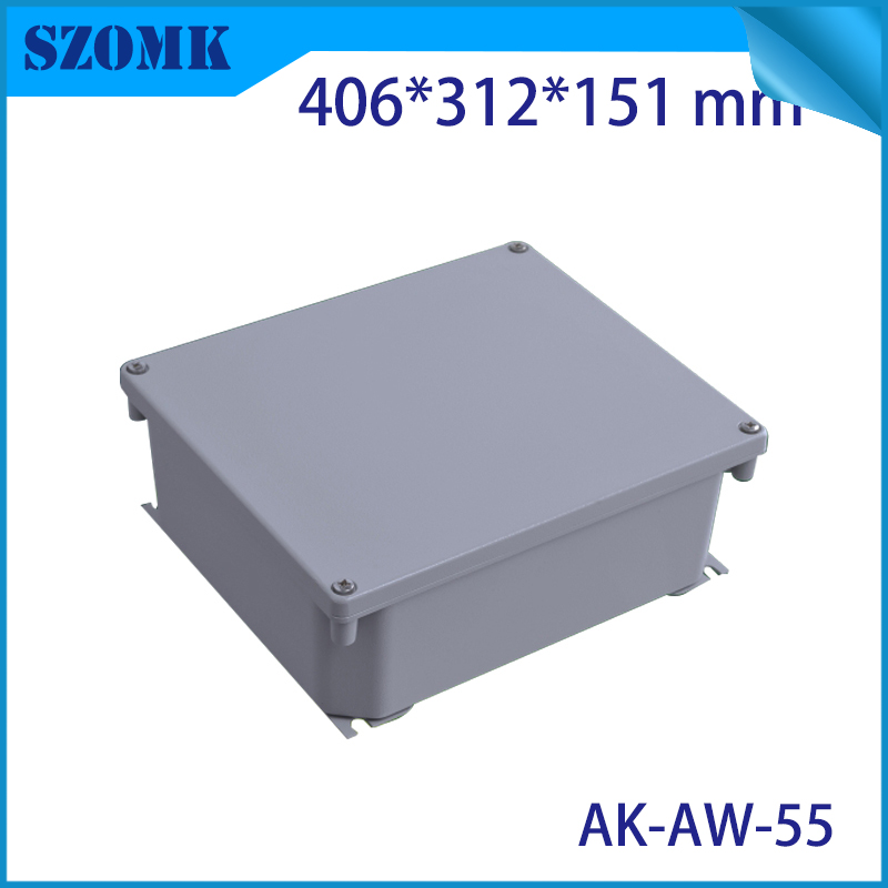 Die Cast Extruded Aluminum Enclosures PCB Instrument Electronic Project Box Aluminum Waterproof Distribution Case 406X312X151MM black extruded aluminum enclosures pcb instrument electronic project box case 100x76x35mm