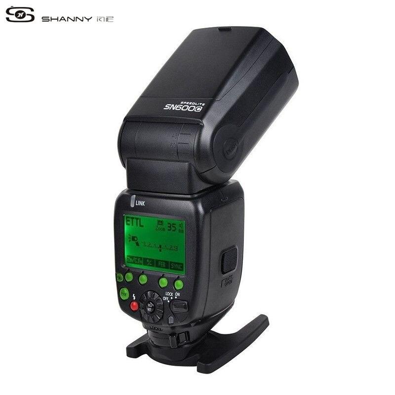 SHANNY SN600C on-camera speedlite flashgun flash for Canon ETTL/M/Multi High-speed sync 1/8000s GN60 shanny sn600c hss 1 8000s e ttl gn60 flashgun flash speedlite for canon