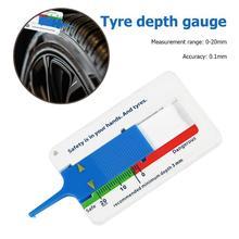 VKTECH 0-20 мм Автомобильный дептометр для протектора шин, индикатор глубины, калибр, прицеп для мотоцикла, Ван колесо, инструмент для ремонта шин