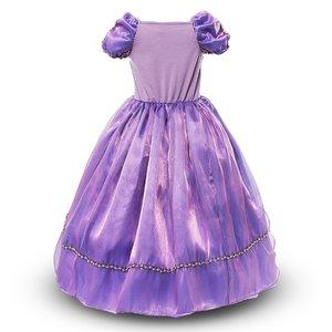 Image 2 - MUABABY Girls Rapunzel Princess Dress Costume Children Deluxe Tangled Dress up Clothing Kids Girl Part Dress Halloween Birthday