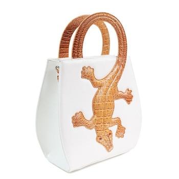 Luxury Handbags Women Bags Designer Black White Crocodile Leather Tote Bag Fashion Ladies Single Shoulder Bag