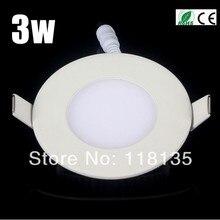 Ультра тонкий дизайн 3 дюйма 3 Вт Встраиваемый светодиодный потолочный Светильник направленного света/круглый квадратный панельный светильник, 65 мм отверстие, 4 шт./лот