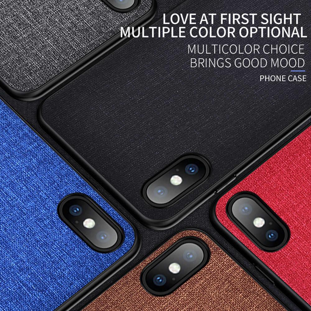 Eqvvol тканевый чехол для телефона iphone 7 8 6 6s Plus 9 РЕТРО PU Чехлы для iphone X XS Max XR ткань текстура мягкий чехол