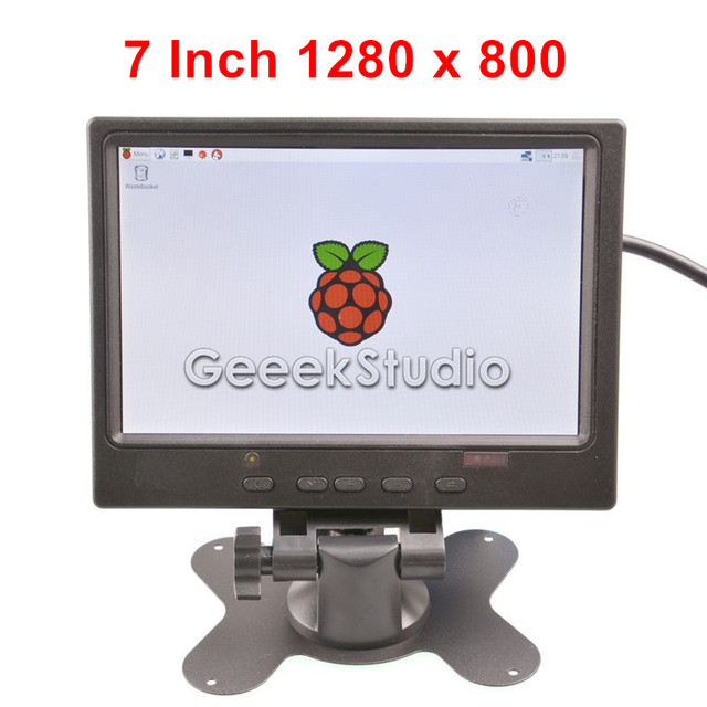 7 Дюймов 1280x800 ЖК-Экран TFT Монитор для Raspberry Pi 3/2 Модель B/B +/+