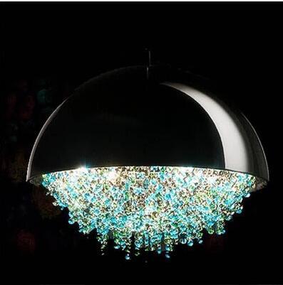 Lustre en cristal Post-moderne restaurant porche vestiaire chambre led boule ronde bar personnalité lustre créatif